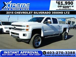 2015 CHEVY SILVERADO 3500HD LIFTED *INSTANT APPROVAL* $409/BW!