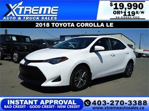 2018 TOYOTA COROLLA LE *INSTANT APPROVAL* $0 DOWN $119/BW!