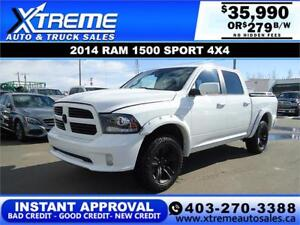 2014 RAM 1500 SPORT CREW CAB *INSTANT APPROVAL* $0 DOWN $279/BW!