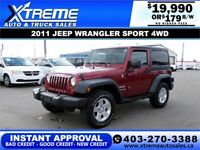 2011 JEEP WRANGLER SPORT 4WD *INSTANT APPROVAL* $179/BW! Calgary Alberta Preview