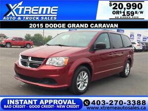 2015 DODGE GRAND CARAVAN SE $159 BI-WEEKLY APPLY NOW DRIVE NOW