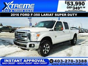 2016 FORD F-350 SD LARIAT *INSTANT APPROVAL* $349/BW! APPLY NOW