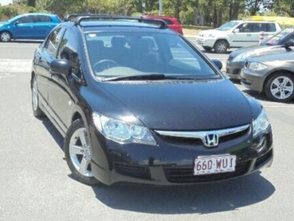 2007 Honda Civic 8th Gen MY07 VTi-L Black 5 Speed Manual Sedan Bundall Gold Coast City Preview