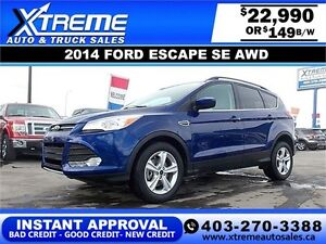 2014 Ford Escape SE AWD $149 BI-WEEKLY APPLY NOW DRIVE NOW