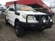2012 Toyota Hilux KUN26R MY12 SR (4x4) White 5 Speed Manual Dual Cab Pick-up Elizabeth West Playford Area Preview