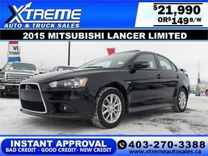 2015 Mitsubishi Lancer Limited $149 b/w APPLY NOW DRIVE NOW