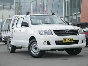 2012 Toyota Hilux GGN15R MY12 SR Double Cab White 5 Speed Automatic Utility Pearce Woden Valley Preview