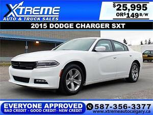 2015 Dodge Charger SXT $149 bi-weekly APPLY TODAY DRIVE TODAY