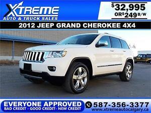 2012 Jeep Grand Cherokee V6 4x4 $249 bi-weekly APPLY NOW
