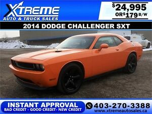 2014 Dodge Challenger SXT $179 bi-weekly APPLY NOW DRIVE NOW