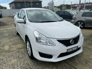 2015 Nissan Pulsar C12 Series 2 ST White Continuous Variable Hatchback Five Dock Canada Bay Area Preview