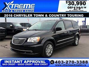 2016 Chrysler Town & Country Touring $179 b/w APPLY NOW DRI
