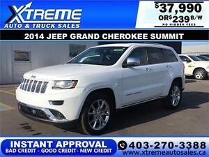 2014 Jeep Grand Cherokee Summit $239 b/w APPLY NOW DRIVE NOW