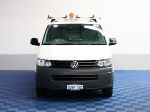 2011 Volkswagen Transporter T5 MY10 132 TDI LWB Low 4 Mtn White 7 Speed Auto Direct Shift Van