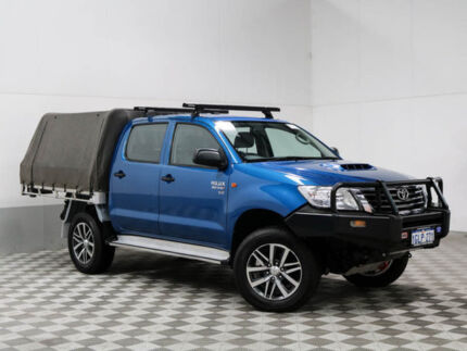 2013 Toyota Hilux KUN26R MY12 SR (4x4) Blue 5 Speed Manual Dual Cab Chassis