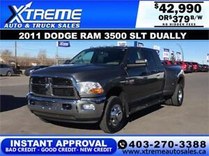 2011 RAM 3500 MEGA CAB DUALLY *INSTANT APPROVAL* $0 DOWN $379/BW