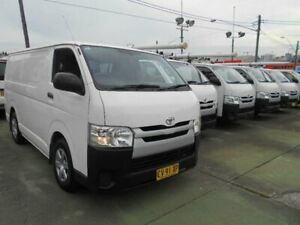 2014 Toyota HiAce KDH201R MY14 LWB White 5 Speed Manual Van Five Dock Canada Bay Area Preview