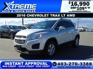 2016 CHEVROLET TRAX LT AWD *INSTANT APPROVAL* $109/BW!
