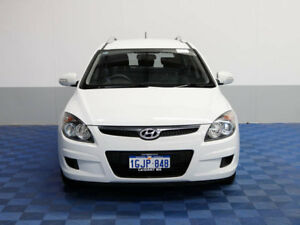 2011 Hyundai i30 FD MY12 CW SX 1.6 CRDi White 6 Speed Manual Wagon