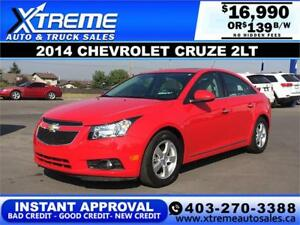 2014 Chevrolet Cruze 2LT $139 BI-WEEKLY APPLY NOW DRIVE NOW