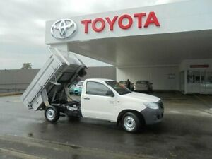 2015 Toyota Hilux TGN16R MY14 Workmate Glacier White 4 Speed Automatic Cab Chassis Belmore Canterbury Area Preview