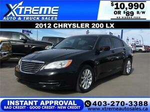 2012 Chrysler 200 $0 DOWN $89 bi-weekly APPLY NOW DRIVE NOW