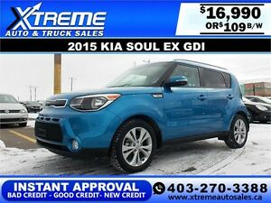 2015 KIA SOUL EX $109 BI-WEEKLY APPLY NOW DRIVE NOW