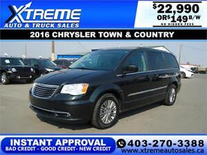 2016 CHRYSLER TOWN & COUNTRY $149 B/W *$INSTANT APPROVAL