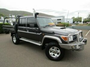 2015 Toyota Landcruiser VDJ79R MY12 Update GXL (4x4) Magnetic Grey 5 Speed Manual Double Cab Chassis Tamworth Tamworth City Preview