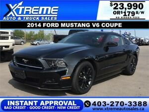 2014 FORD MUSTANG V6 COUPE $179 BI-WEEKLY APPLY NOW DRIVE NOW