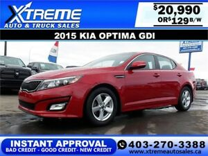 2015 KIA OPTIMA LX $0 DOWN $129 b/w APPLY NOW DRIVE NOW