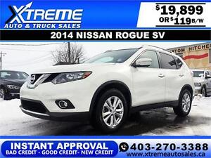 2014 Nissan Rogue SV $119 bi-weekly APPLY NOW DRIVE NOW