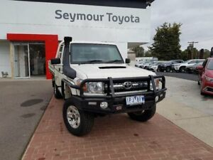 2016 Toyota Landcruiser VDJ79R MY12 Update GXL (4x4) French Vanilla 5 Speed Manual Cab Chassis Seymour Mitchell Area Preview
