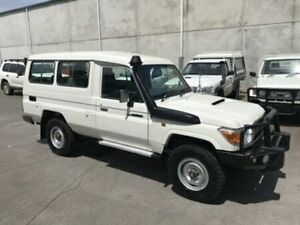 2014 Toyota Landcruiser VDJ78R MY13 GXL Troopcarrier White Manual Wagon Bells Creek Caloundra Area Preview