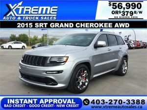 2015 GRAND CHEROKEE SRT $379 Bi-Weekly APPLY NOW DRIVE NOW