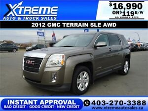 2012 GMC TERRAIN SLE AWD $119 B/W *$0 DOWN* APPLY NOW