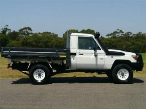2012 Toyota Landcruiser VDJ79R MY10 Workmate White Manual Cab Chassis