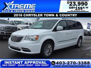 2016 CHRYSLER TOWN & COUNTRY TOURING $159 B/W *APPLY NOW