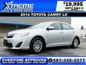 2014 Toyota Camry LE $139 Bi-Weekly APPLY NOW DRIVE NOW