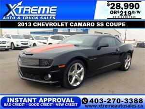 2013 CHEVROLET CAMARO COUPE SS $219 B/W *$0 DOWN* APPLY NOW