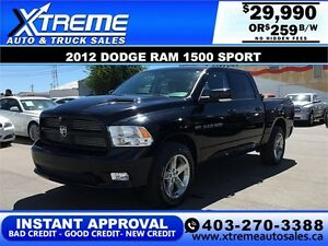 2012 Dodge Ram 1500 Sport *INSTANT APPROVAL* $0 DOWN $259/BW!