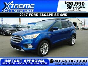 2017 FORD ESCAPE SE AWD $139 BI-WEEKLY *INSTANT APPROVAL*