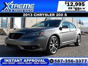 2013 Chrysler 200 S $89 bi-weekly APPLY NOW DRIVE NOW