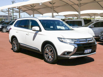 2016 Mitsubishi Outlander ZK MY16 LS (4x4) White Continuous Variable Wagon Jandakot Cockburn Area Preview
