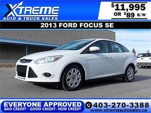 2013 Ford Focus SE $89 bi-weekly APPLY NOW DRIVE NOW