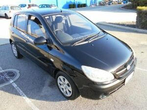 2008 Hyundai Getz TB MY09 SX Black 5 Speed Manual Hatchback