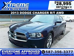 2013 Dodge Charger R/T AWD $179 bi-weekly APPLY NOW DRIVE NOW