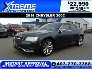 2016 CHRYSLER 300C $149 B/W $0 DOWN *$INSTANT APPROVAL