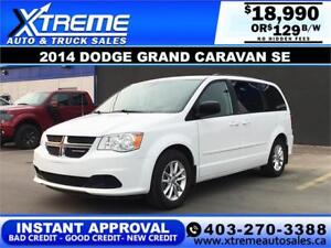 2014 DODGE GRAND CARAVAN SE $239 B/W APPLY NOW DRIVE NOW