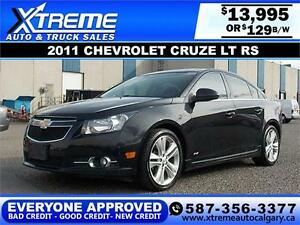 2011 Chevrolet Cruze LT RS $129 bi-weekly APPLY NOW DRIVE NOW
